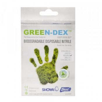 Biodegradable Gloves 20 Pack - Green-0